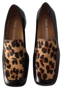 Enzo Angiolini Black & Leopard Wedges