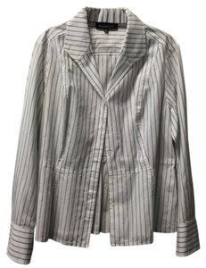 Jones New York Blouse Petite Button Dress Shirt Longsleeve Button Down Shirt Striped