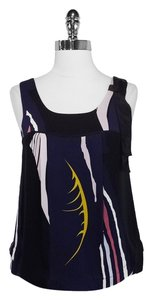 Twinkle by Wenlan Silk Top Black/Navy