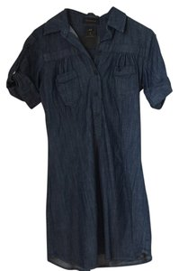 Genetic Denim short dress Dark Denim on Tradesy