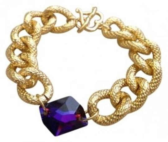 Preload https://item4.tradesy.com/images/swarovski-crystal-gold-chunky-chain-bracelet-137678-0-0.jpg?width=440&height=440