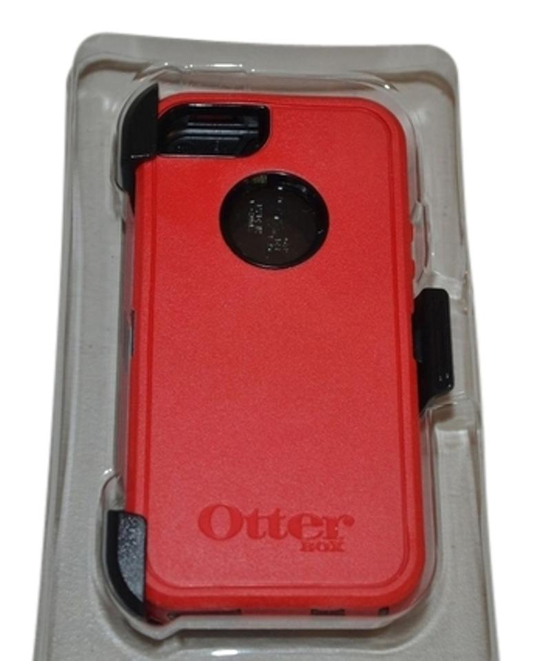 promo code 127ac 906bb OtterBox Red Black Box Otter Defender Series Rugged Protection Iphone 5 5s  Case Tech Accessory