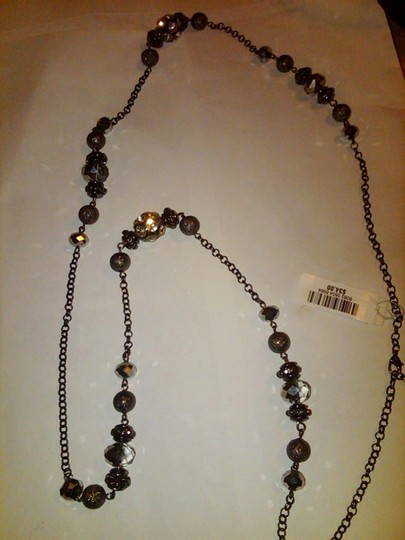 Charter Club Charter Club Hematite Glass Crystal Fireball Long Necklace