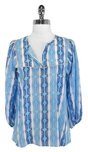 Tucker Silk Top Blue