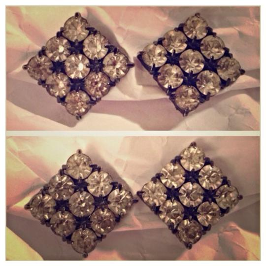 Express Express Rhinestone Clip Earrings