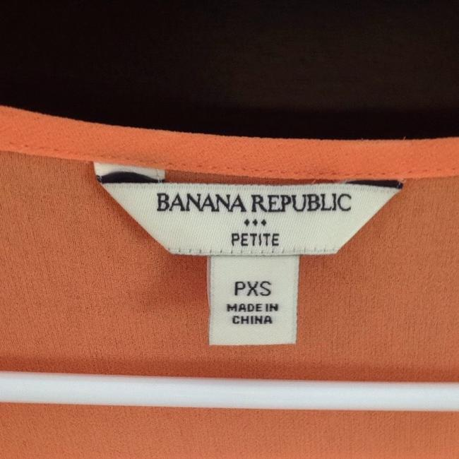 Banana Republic Sheer Great Condition Like New Dressy Casual Feminine Top Peach/ Orange