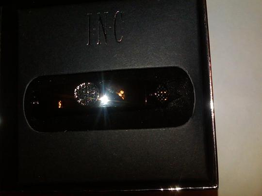 INC International Concepts INC Hematite hinged crystal bangle/ one size. in box.