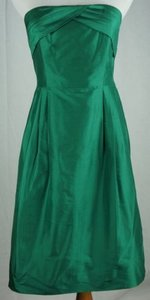 J.Crew Erin Silk Dupioni Strapless Warm Jade Dress