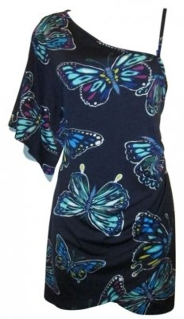 Preload https://item1.tradesy.com/images/navy-butterfly-cover-up-above-knee-short-casual-dress-size-12-l-137695-0-0.jpg?width=400&height=650