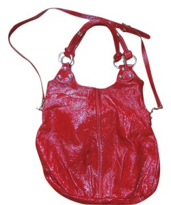 Berge Patent Leather Shoulder Bag