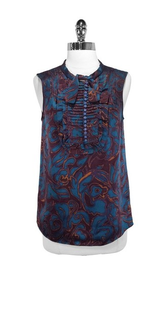 Marc by Marc Jacobs Silk Top Plum/Blue