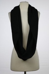 J.Crew J Crew Womens Black Infinity Scarf Os One Textured Casual