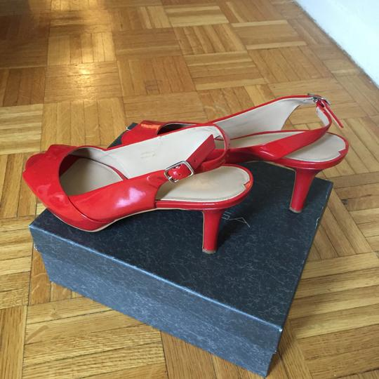 Via Spiga Patent Leather Coral Red Formal