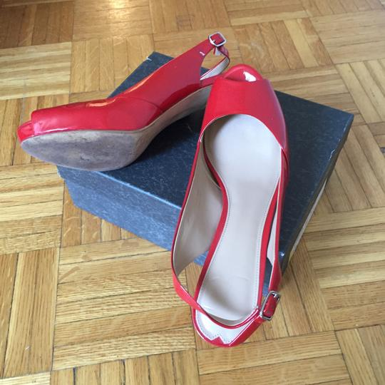 Via Spiga Patent Leather Red Coral Red Formal