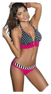 SUMMER SALE New #1 Selling Bathing Suit In My Closet Black/White/Hot Pink Bikini
