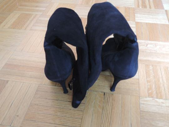 Nina Shoes Leather Black Genuine Suede Boots