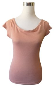 Michael Stars Scoopneck Off Shoulder Knit Top Blush Pink