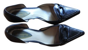 Liz Claiborne Black with White Thread Pumps