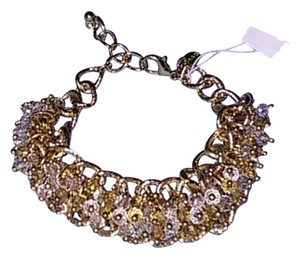 Other Gold Chunky Beaded Adjustable Bracelet NEW