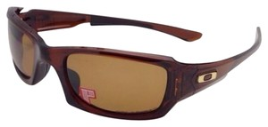 Oakley Polarized OAKLEY Sunglasses FIVES SQUARED OO9238-08 54-20 Rootbeer Frame w/Bronze lenses