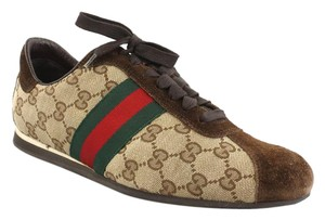 Gucci Sneakers Brown (Red/Green) Athletic