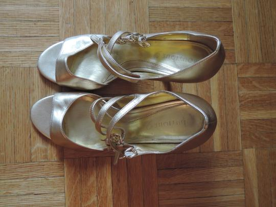 Boutique 9 Gold Genuine Leather Sandals