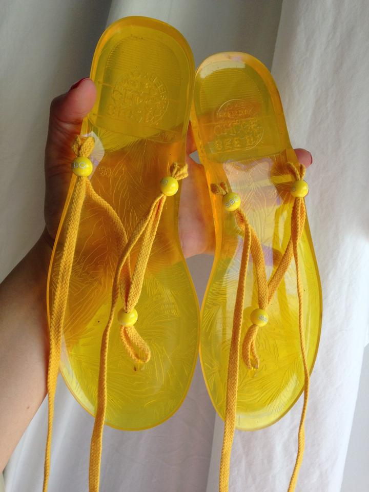 72b29b02f271 See by Chloé Yellow 39 Wrap Thong Ankle Italian Jelly Sandals Size ...