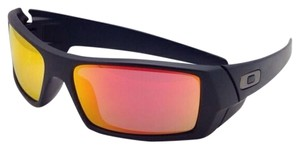 Oakley New OAKLEY Sunglasses GASCAN 26-246 60-15 Matte Black Frame w/ Ruby Iridium Lenses