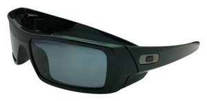 Oakley New POLARIZED Oakley Sunglasses GASCAN 12-891 Polished Black Frame w/Grey lenses