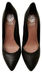Vince Camuto Leather Comfortable Black Pumps
