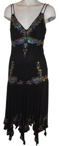 Sue Wong Beaded Sequin Silk Dress