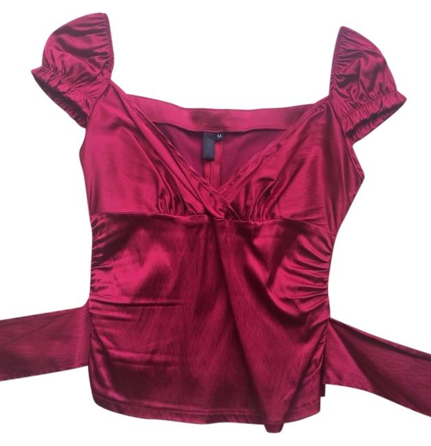 Ashley O'Rourke Top Burgundy