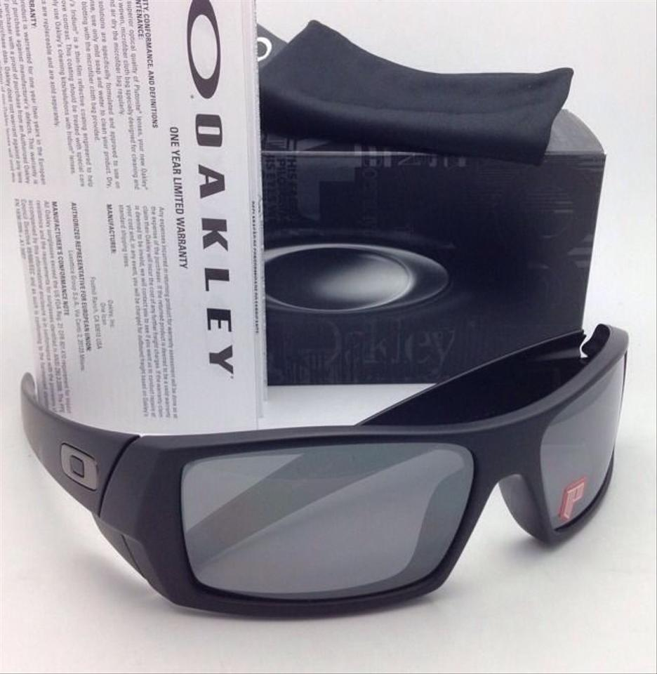 d3abeef5d56 Oakley New OAKLEY POLARIZED Sunglasses GASCAN 12-856 Matte Black Frame w  Black  Iridium. 123456789