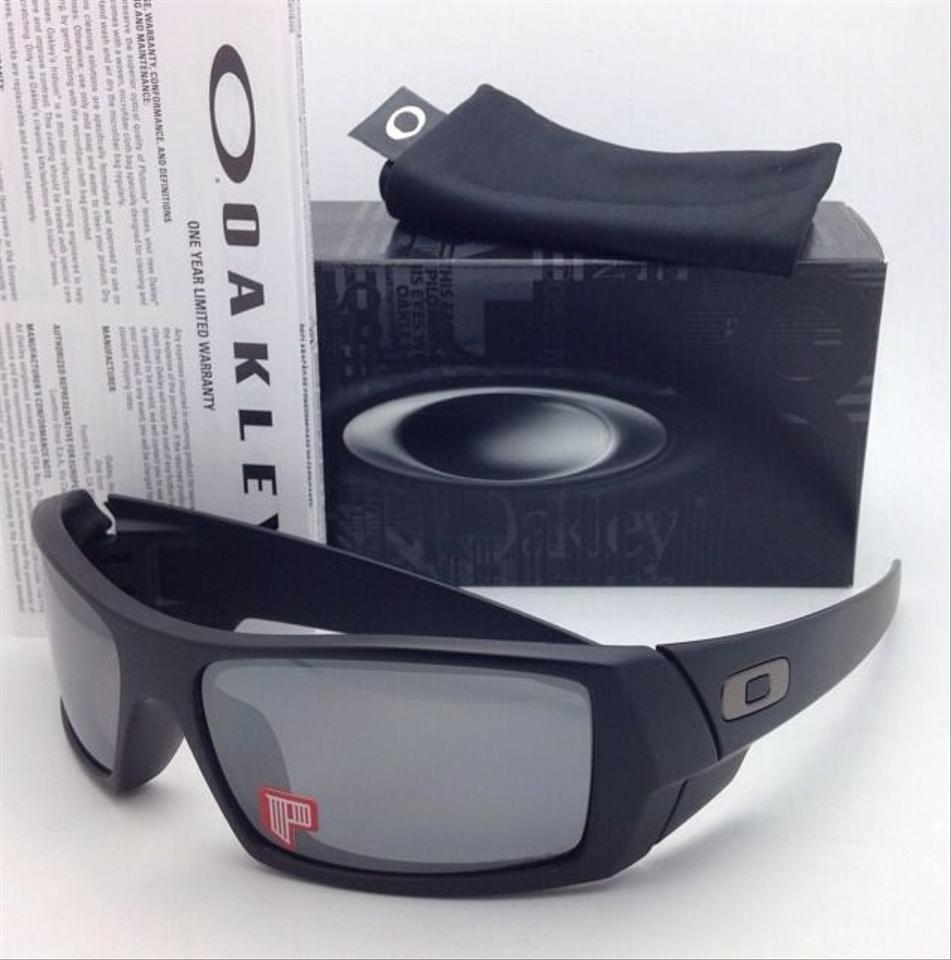 4d17264e066 Oakley New OAKLEY POLARIZED Sunglasses GASCAN 12-856 Matte Black Frame w  Black  Iridium. 123456789