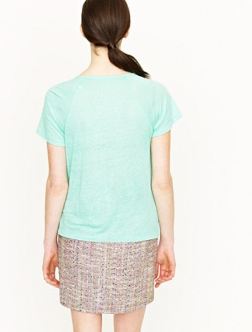 J.Crew Linen Lightweight T Shirt Green Mint