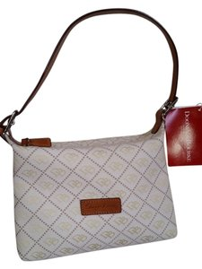 Dooney & Bourke Mini Leather Cloth Satchel in Ivory