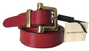 Burberry BURBERRY Dells 25mm London Saffiano Leather Gold Tone Buckle Belt. Size 32 - 80