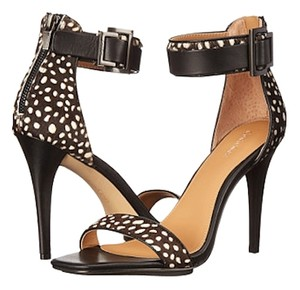 Calvin Klein Animal Print Black/White Haircalf/Leather Sandals