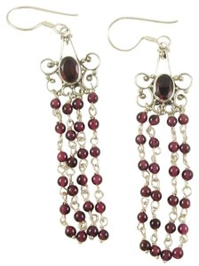 Island Silversmith Island Silversmith Genuine Amethyst 925 Silver Chandelier Earrings 0301Z *FREE SHIPPING*
