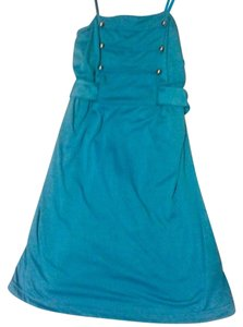 Self Esteem short dress teal Military on Tradesy