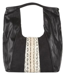 Vince Camuto Vcsignature Leather Python Tote in Black