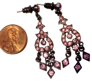 Napier Pink Dangle Earrings