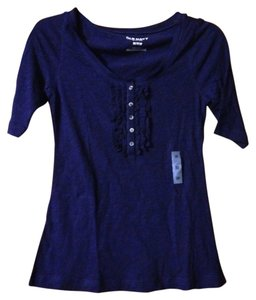 Old Navy Henley Elbow Top blue