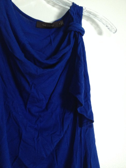 The Limited Sleeveless Draped Top Blue