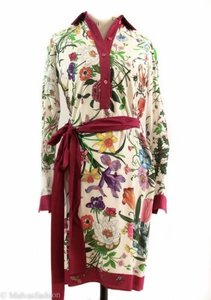 Gucci short dress Multi-Color 362041 Flora Shirt on Tradesy