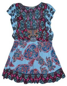 Unity World Wear short dress Blue, Multi-Color Boho Bohemian on Tradesy
