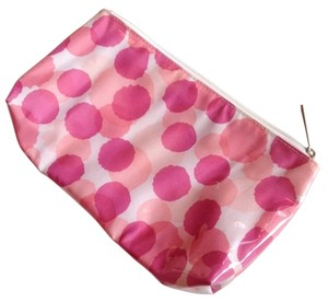 Clinique Makeup Pink and white Travel Bag