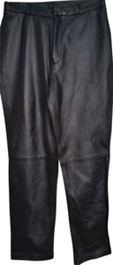 Jaclyn Smith Straight Pants Black Leather
