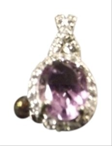 Lovely Rhinestone Purple Pendant