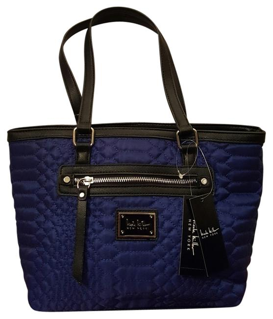 Item - W ** New ** ** Small W/ Umbrella Night Sky/ Black Quilted / Faux Leather Tote